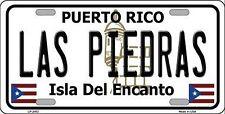 """Las Piedras Puerto Rico Novelty 6"""" x 12"""" Metal License Plate Auto Tag Sign"""