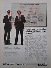 1/1987 PUB LOCKHEED ELECTRONICS GEODESIC CONE ANTENNA HANK SOULE GARY HOJELL AD