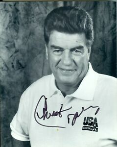 Coach Chuck Daly (1930-2009) Detroit Pistons Olympics autographed signed photo