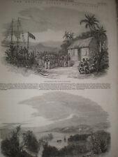 Colonia Britannica dichiarare delle isole Bay Honduras 1853 old print REF T