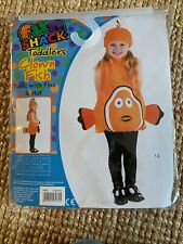Toddlers Clown Fish Tunic Costume Fancy Dress 1-2 Years