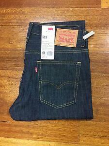 Levi's Men's Denim Jeans 513 Slim Straight Fit Below Waist Color Rinse BNWT