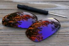 Polarized Dark Purple Violet Mirror Sunglass Lenses for Oakley Juliet Cool Tint