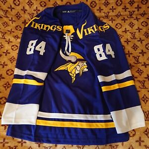 NFL NHL Replica Minnesota Vikings Hockey Jersey. Any Size, Name, and Number.