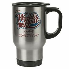 The Worlds Best Train Conductor Thermal Eco Travel Mug - Stainless Steel