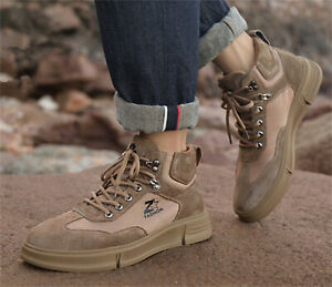 Men's Autumn/winter Outdoor High-top Casual Boots Non-slip Tooling Work Shoes