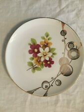 """Winterling Bavaria floral and gold deco 7.5"""" gold trim plate cookies!!"""
