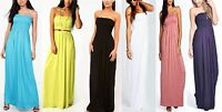 NEW LADIES WOMENS SHELLEY SHIRRED BANDEAU MAXI DRESS SIZE 8,10,12,14,16 RRP £ 12