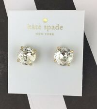 Kate Spade New York Large GUMDROP Clear Stud Post Earrings NWT Ships Fast!