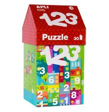 Apli Kids - Little House 123 Number Puzzle - kids puzzles, early learning