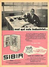 PUBLICITE ADVERTISING 025  1959  SIBIR   frigidaire réfrigérateur INDUSTRIEL