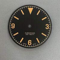 28,5 MM grünes leuchtendes Zifferblatt für das Uhrwerk NH35 / NH36 / 4R36