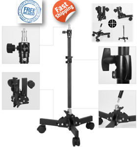 20-70cm Adjusted Video Lighting Photography Light Stand Foldable Leg With Wheels
