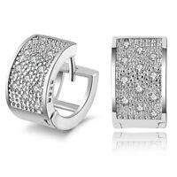 Mode Frauen Schönheit Kristall 925 Sterlingsilber Creolen Schmuck Geschenk