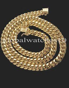 10k Gold Chain Real Solid Cuban Link Box Lock 8mm 18 inch  Choker