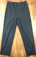 Lands' End Women's Dress Pants Trousers Size 12 Actual W32 L30 Charcoal Gray