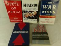 Bob Woodward  book lot of 5 All the President's Men Shadow State of Denial