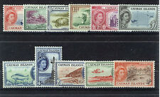 CAYMAN ISLANDS 1953-1959 DEFINITIVES SG148/158 BLOCKS OF 4 MNH