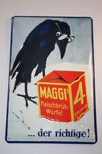 """3d LAMIERA SCUDO Maggi 20x30 cm """"Maggi Corvo-la giusta"""" Tin Sign ENAMEL"""