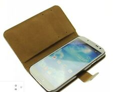 Samsung Galaxy S4 i9500 i9505 Custodia in pelle a portafoglio nero flip case