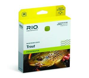 RIO MAINSTREAM TROUT NEW WF-8-F #8 WT. WEIGHT FORWARD FLOATING FLY FISHING LINE