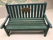 Hallmark Marjolein Bastin Natures Sketchbook Green Wooden Bench Vintage