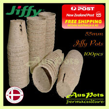 55mm Jiffy Pots x 100pcs - Propagation, Seedling, Herbs, Veggie