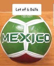Lot Of 6 Mexico size 5 top soccer balls