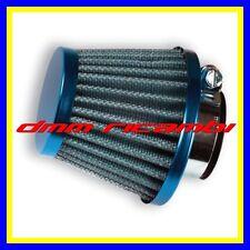 Filtro Aria sportivo universale 28/35 mm. conico fungo blu Moto Scooter MiniMoto