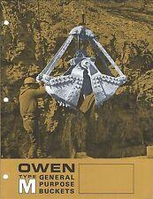 Equipment Brochure - Owen - Type M - General Purpose Buckets (E3516)