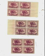 772 MNH blocks of 4 in 3 different shades of purple