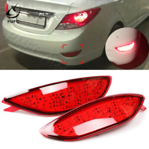 Rear Bumper Tail Light Parking Brake Light LED For Hyundai Accent 2008-2015