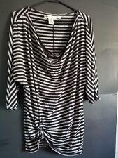 419d88dd30c93a Max Studio WOMEN BLOUSE Striped Scoop Neck 3 4 Sleeve Knit Top - Size MEDIUM