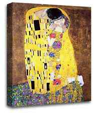THE KISS GUSTAV KLIMT CANVAS PAINTING RE-PRINT PICTURES WALL ART PRINT SET 1