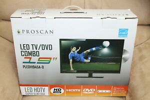 """Proscan 19"""" Class HD (720P) LED TV (PLEDV1945A) with Built-in DVD NEW"""
