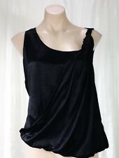 MAD CORTES SIZE 8 DESIGNER BLACK WRAP TOP NWT REDUCED HEAVILY FROM $414