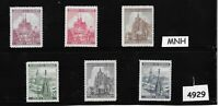 MNH Stamp set / Third Reich / Cathedrals  /  B a M / WWII Germany Protectorate