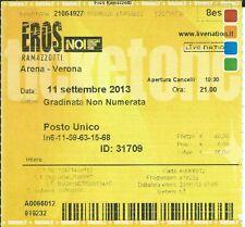 Ticket Concert: Eros Ramazzotti (11/9/2013) Arena Verona