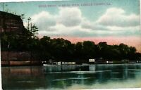 Vintage Postcard - 1909 River front Starved Rock Lasalle Count Illinois IL #3716