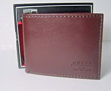 Guess Mens Leather Wallet Double Billfold W/zip 31GO130001 Brown NEW NIB $42
