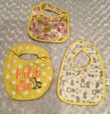 Carter's Baby Girl Bibs (quantity 3) Used