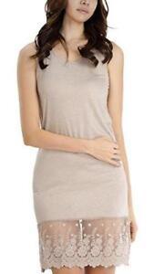 Women's sleeveless full slip for dresses with lace trim