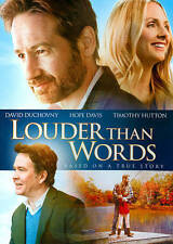 LOUDER THAN WORDS DVD 2014 BASED ON A TRUE STORY DAVID DUCHOVNY TIMOTHY HUTTON