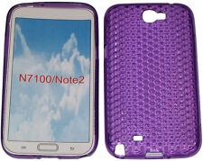 Custodia in gel Pattern protettore per Samsung Galaxy Note 2 GT N7100 N7105 Viola