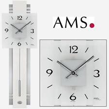 AMS Wall Clock 7302 Quartz Pendulum Living Room Watch