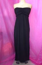 Used Ladies Black Strapless Boob Tube Dress Summer Size 10-12