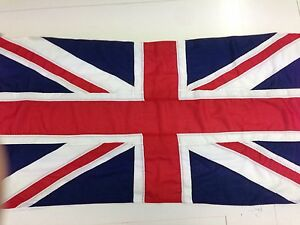 Union Jack sewn flag - Quality outdoor flag-rope and toggle 1.5-4 yd