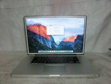 Apple MacBook Pro A1297 2010 17 Core i7 2.66Ghz 8 Go 1 To Nvidia GT OSX El Capitan