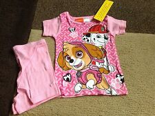 Toddler girls Nickelodeon Paw Patrol multi color snug fit pajamas size 3T(NWT)