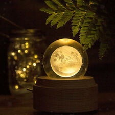 CLEAR MOON GLASS CRYSTAL BALL SCIENCE ASTRONOMY MODEL CREATIVE XMAS GIFT